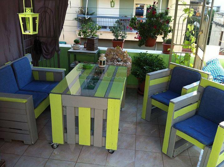 Мебель садовая из паллетов своими руками
