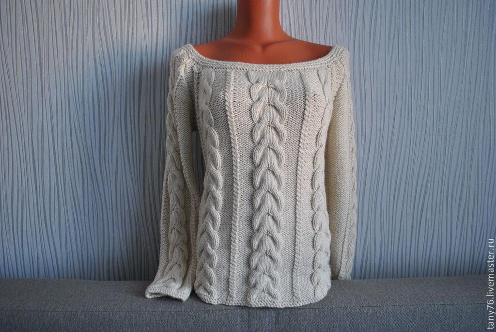 Вязание свитеров с косами спицами 81