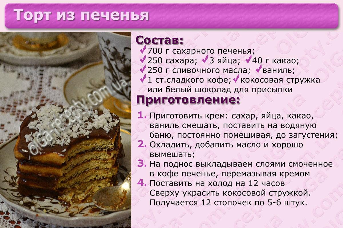 Рецепты простых тортов пошаговое