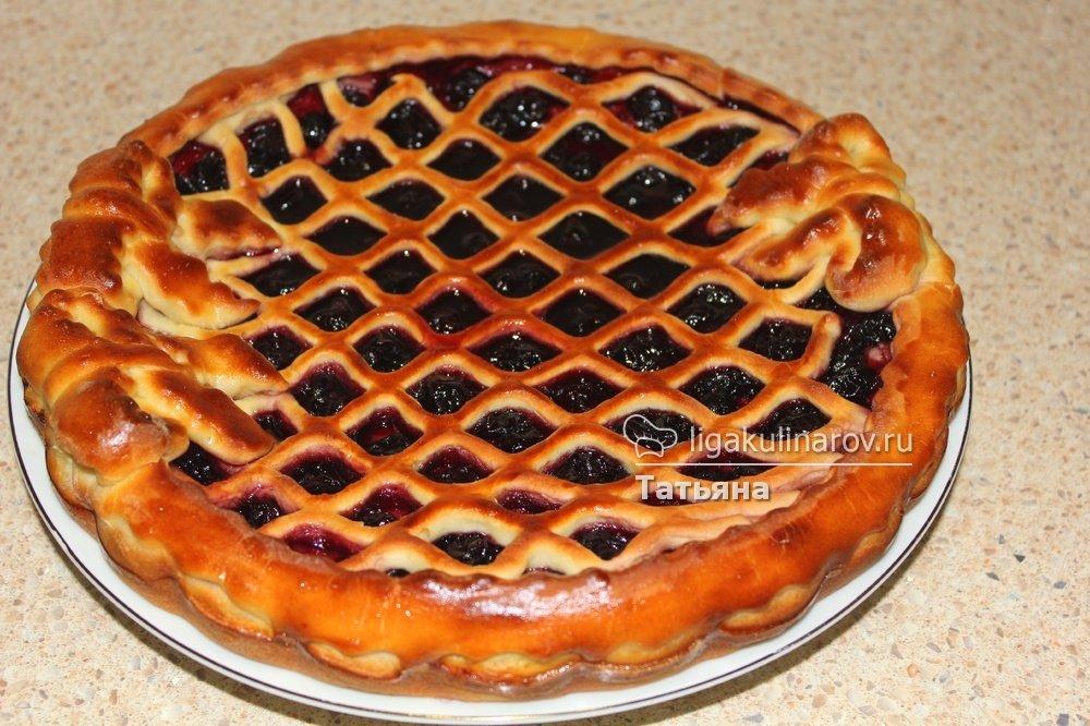 Рецепт открытого пирога с повидлом