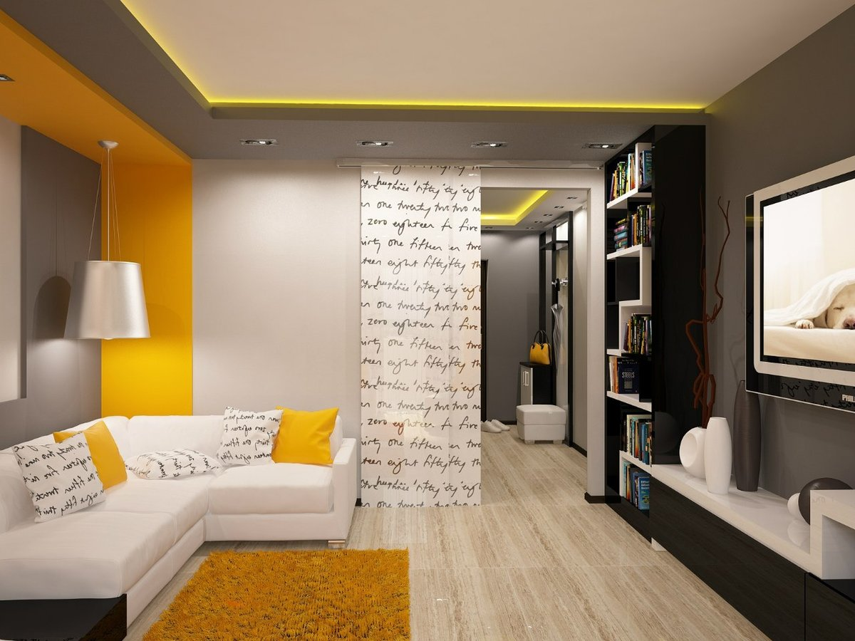 Дизайн гостиной в хрущёвке