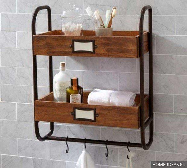 Сделать этажерку для ванной своими руками 727