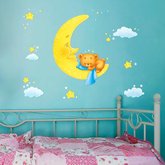 Оформление стены в детской спальне своими руками 20