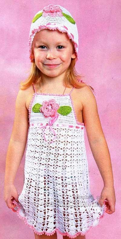 Вязание для девочки 3 года крючком 45