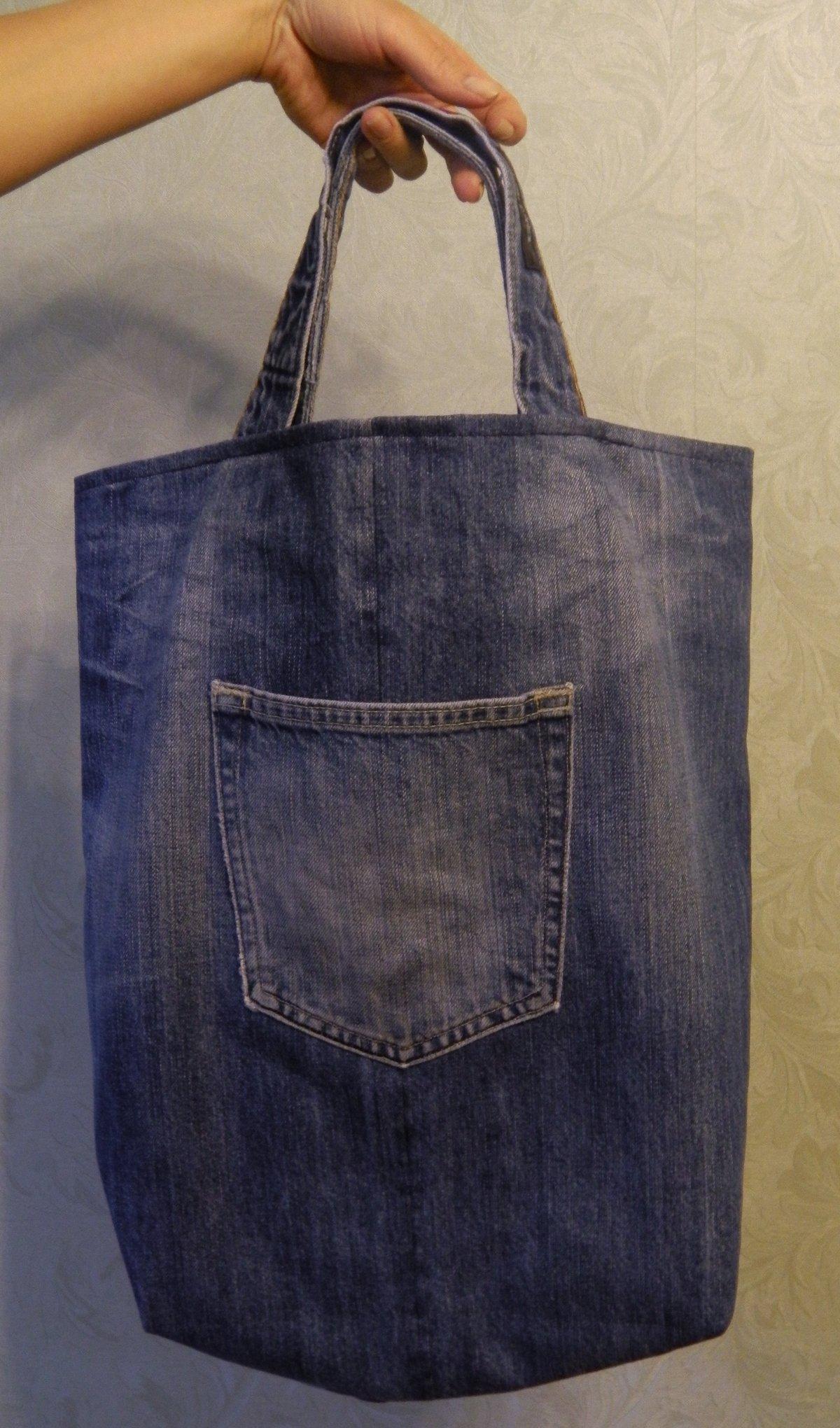 Хоз сумка из джинсов своими руками