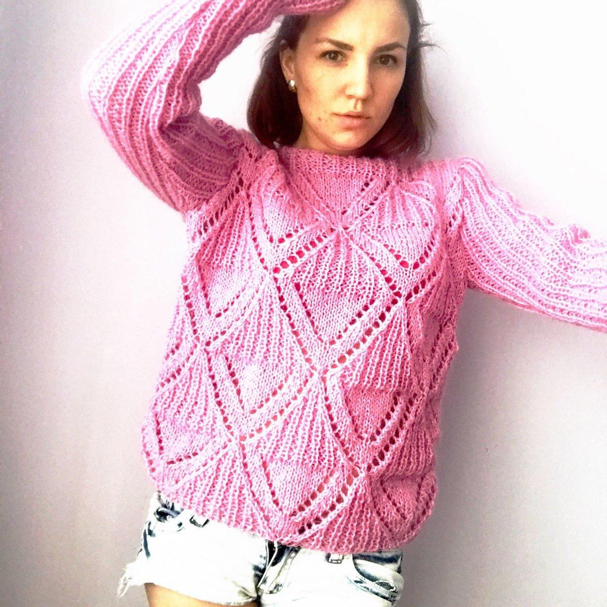 Вязание из мохера свитеров 572