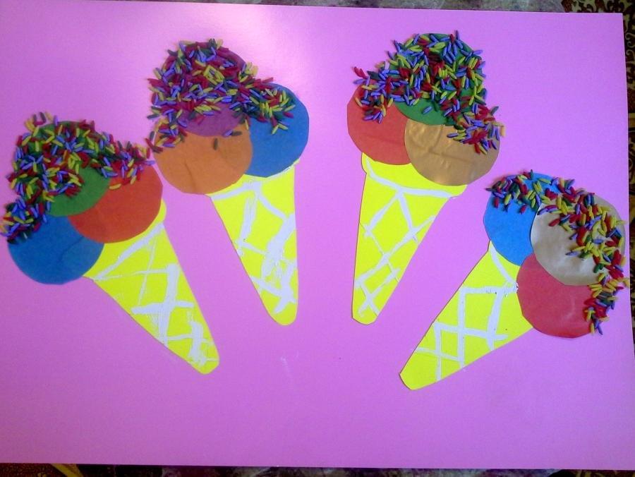 Поделки с детьми мороженое 37