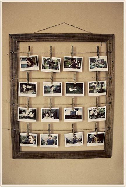 Как сделать фотографии в рамках на стену