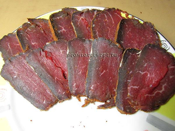 Бастурма из говядины в домашних условиях рецепт с фото