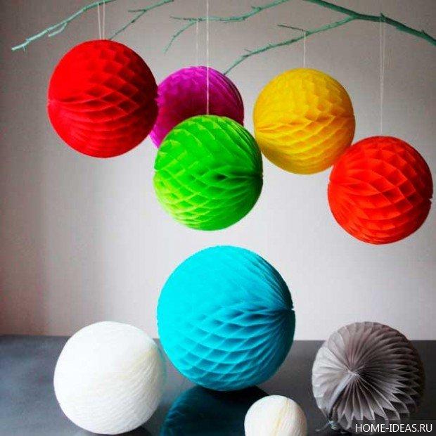 Новогодние игрушки из цветной бумаги своими руками видео