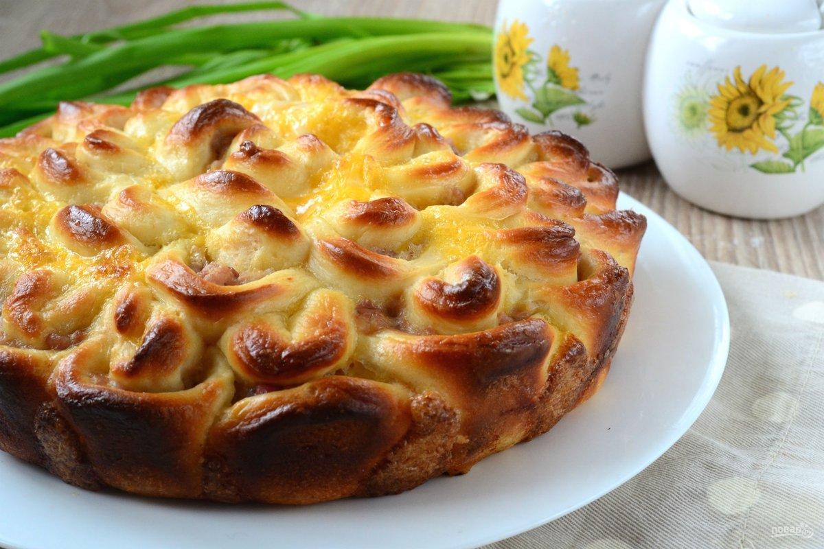 Пирог хризантема с капустой пошаговый рецепт