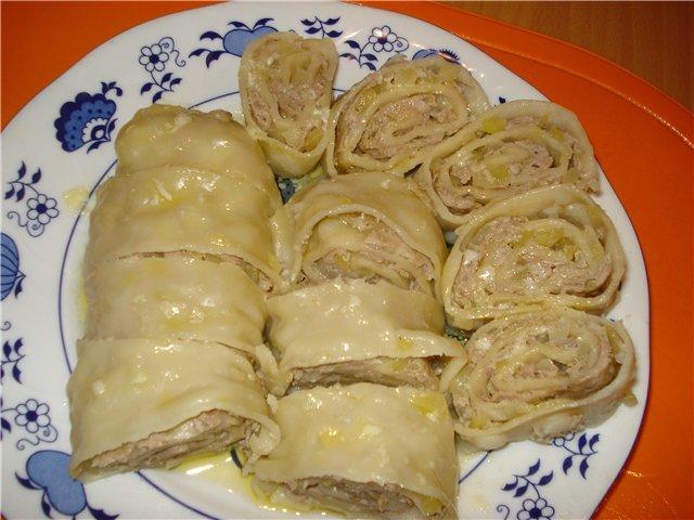 Ханум рецепт с пошаговым фото в духовке с фаршем