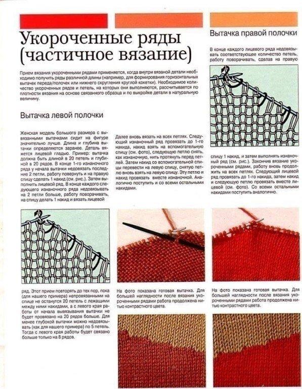 Как повернуть вязание спицами 30
