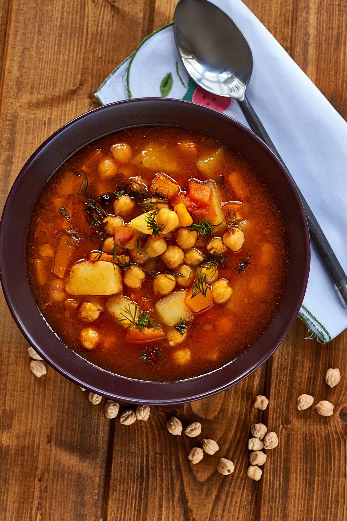 Суп из нута с курицей рецепт