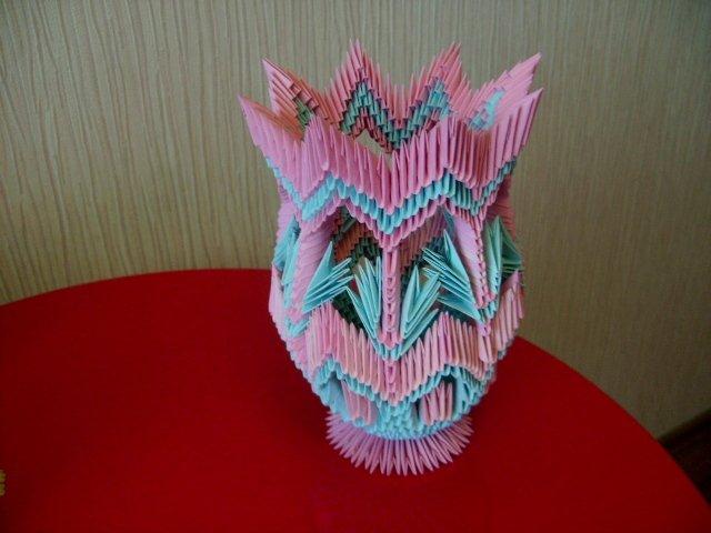 Модульное оригами вазы мастер класс схема