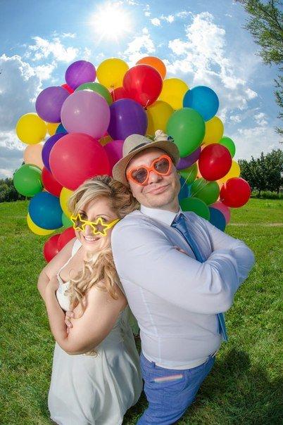 Конкурс с воздушными шариками для пар