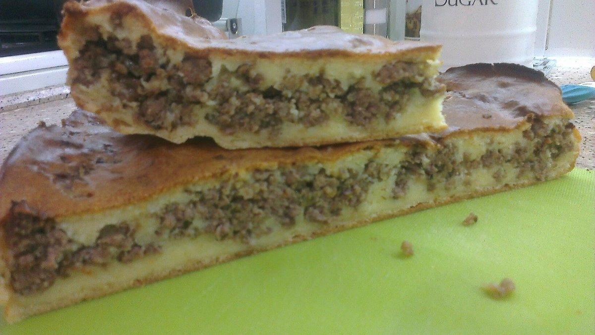 Быстрый пирог с фаршем рецепты с фото