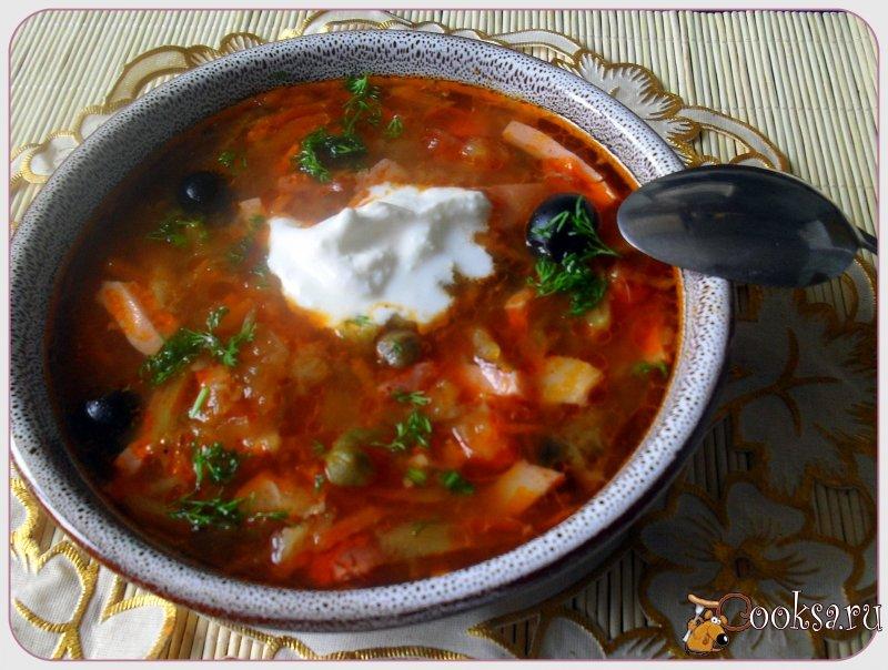 Солянка мясная рецепт пошагово с