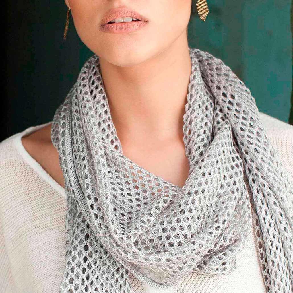 Вязание крючком шарфов женских 151