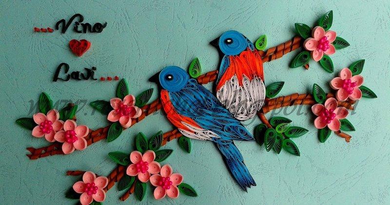 Квиллинг птицы как сделать