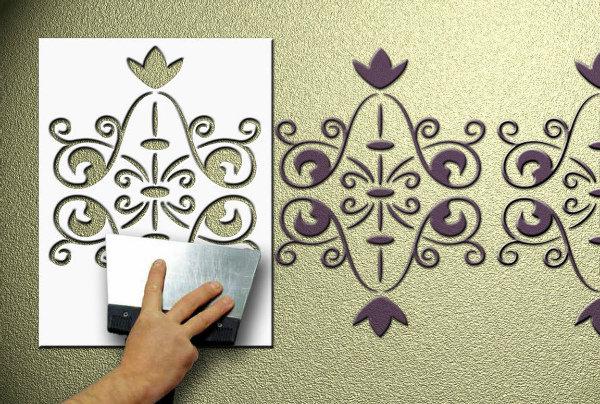 Рисунок для стен своими руками образцы 89