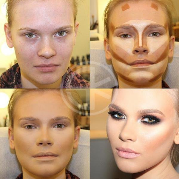 Типы макияжа для квадратного лица