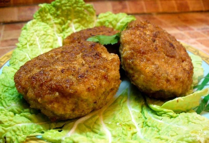 Котлеты с грибами пошаговый рецепт с