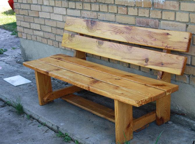Как сделать уличную скамейку из дерево своими руками 28