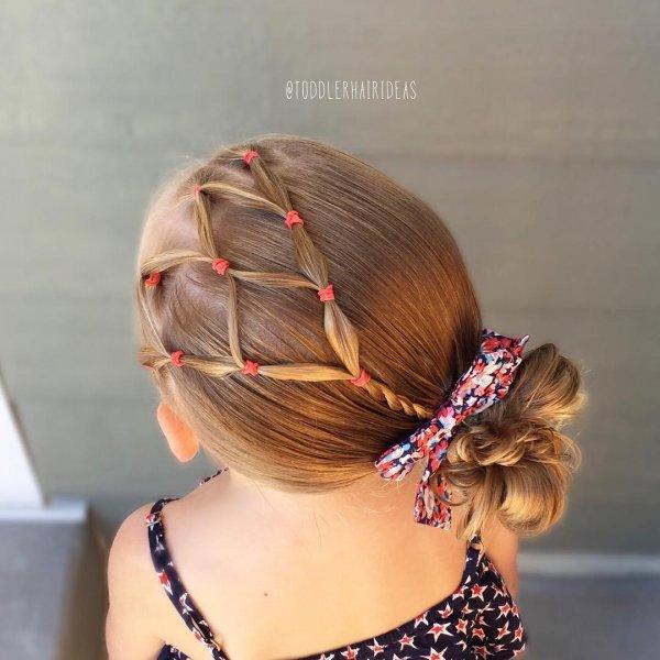 Модные прически на резинках для девочек