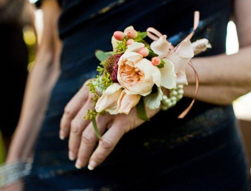 Букет на руку для невесты своими руками