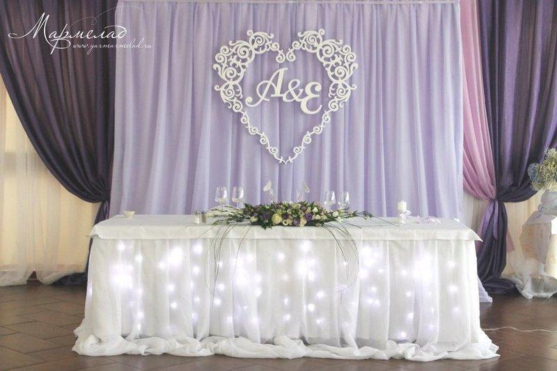 Оформление на свадебный стол своими руками