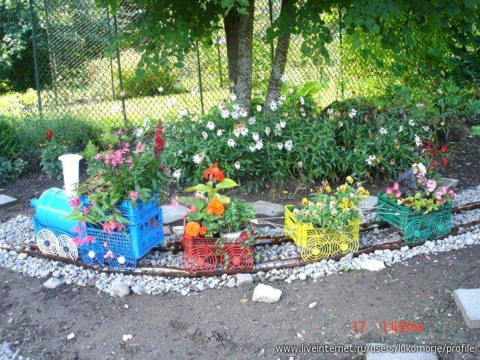 Поделки из бросового материала для дачи сада огорода своими руками 33