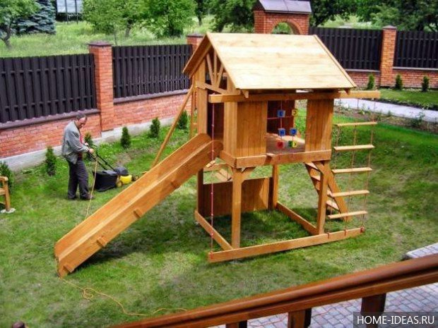 Из дерева для детей на даче своими руками