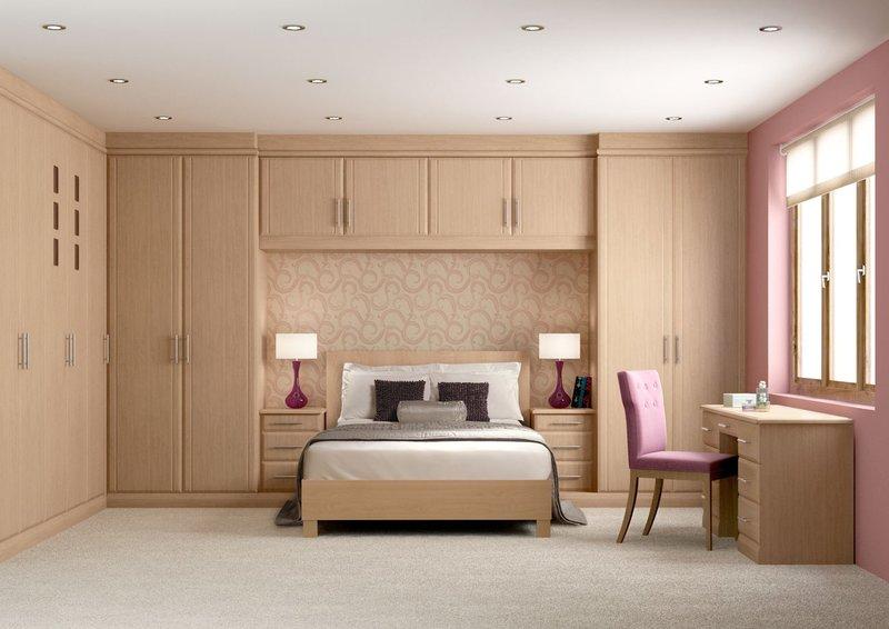Дизайн встроенного шкафа в спальню