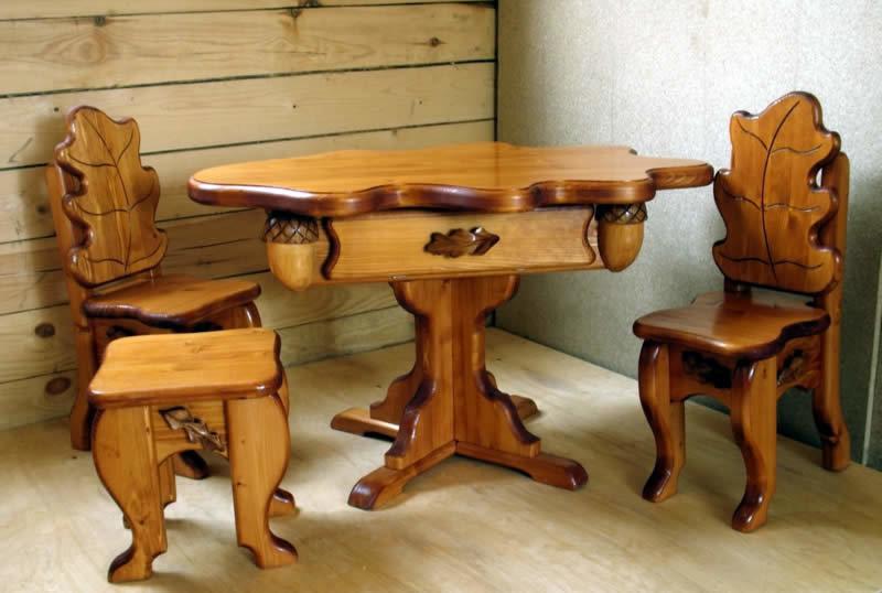 Мебель из натурального дерева своими руками фото