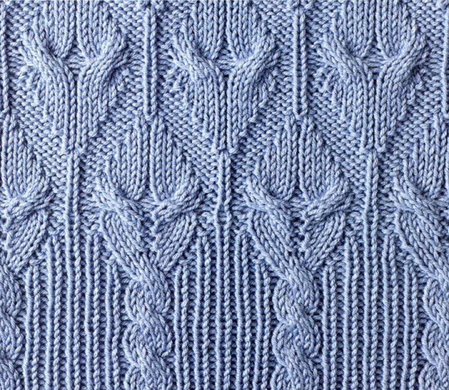 Вязание спицами кайма из кос 95