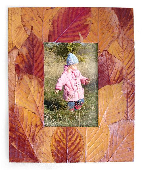 Рамка для фото своими руками из листьев