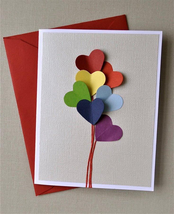 40 открыток своими руками на 14 февраля. Как красиво признаться в ...... открытка своими руками на 14 февраля - карточка от поль