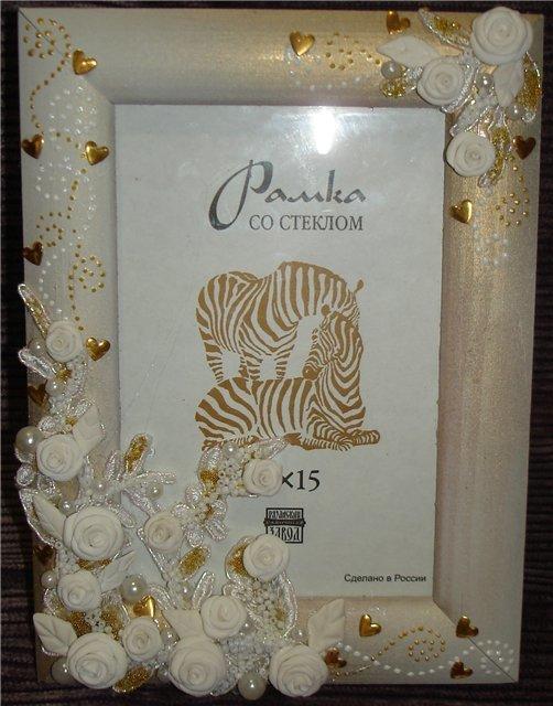 Декор свадебной рамки для фото своими руками 60