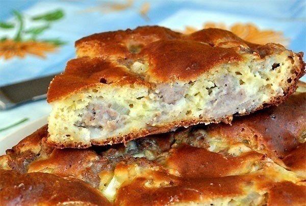 Заливной пирог с фаршем и картошкой в мультиварке рецепты с