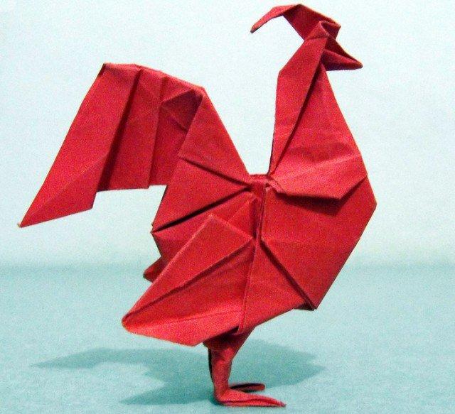 Оригами для 2017 нового года