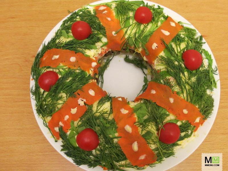 Салаты на рождество с рецепты с