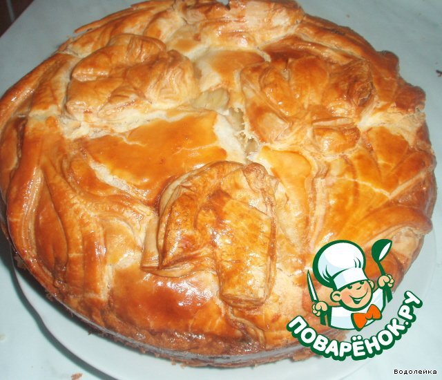 Пироги с рыбой и картошкой из слоеного теста рецепт