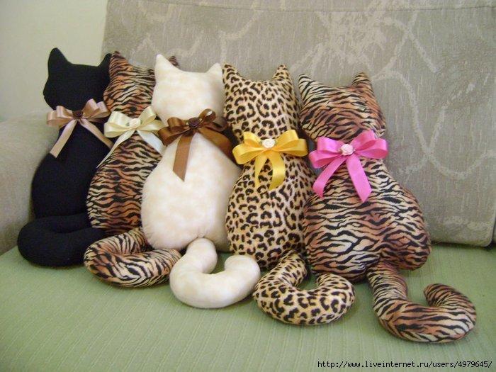 Подушка кошки своими руками