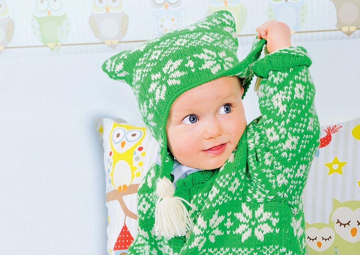 Вязание детские шапочки с ушками
