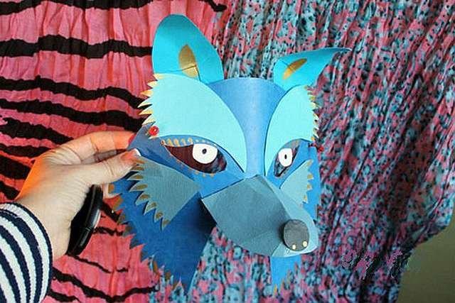 Маски волка из бумаги и картона