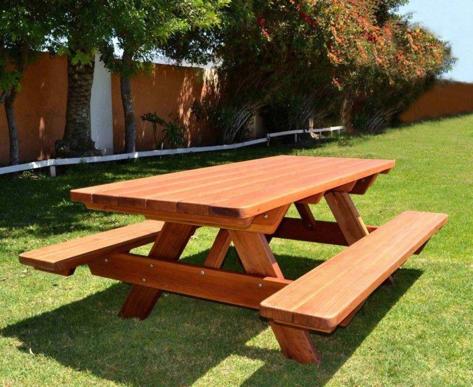 Как сделать скамейки и стол из дерева 648
