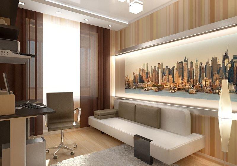 Дизайн для кабинета в квартире