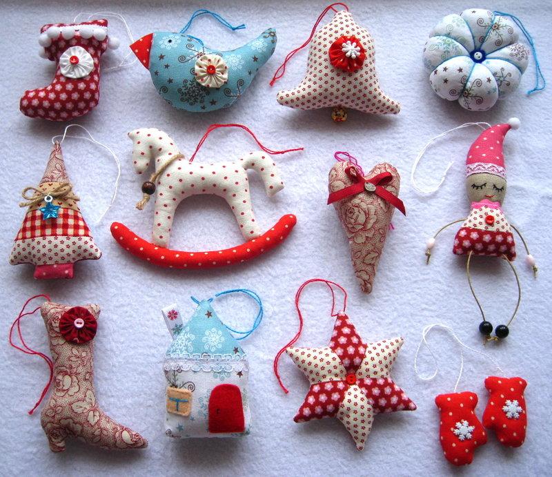 Мягкие игрушки своими руками елочные