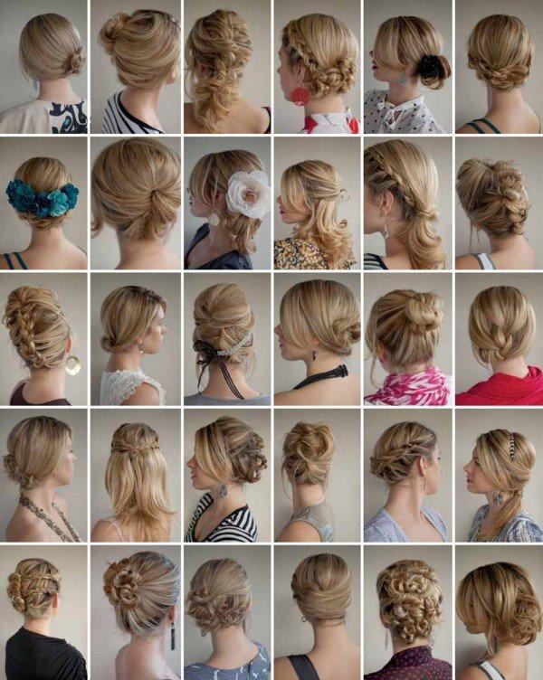 Идея прически на средние волосы  в картинках 195